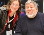 Angela Brett with Steve Wozniak