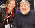 Angela Brett with Steve Wozniak